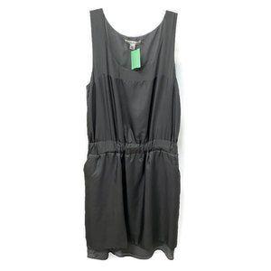Banana Republic Gray Silk & Chiffon Tank Dress